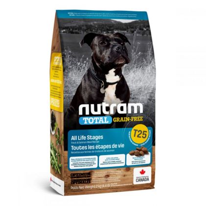 Nutram Total Grain-Free T25 Холистик беззерновой корм для собак с форелью и лососем