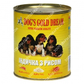 Dog's Gold Dream Консервы для собак индейка с рисом
