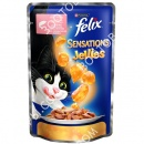 Felix Sensations Jellies 100 гр Кусочки с лососем и треской в желе