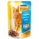 Purina Friskies Консервы для кошек кусочки в подливе с лососем 100 гр