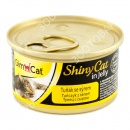 GimCat ShinyCat in jelly Консервы для кошек Тунец с сыром в желе