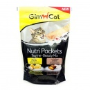 GimCat Nutri Pockets Taurine Beauty Mix Лакомства для кошек с сыром и таурином