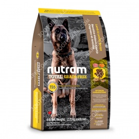 Nutram Total Grain-Free T26 Холистик беззерновой корм для собак с ягненком и чечевицей