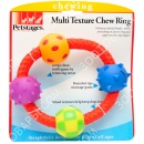 Petstages Multi Texture Chew Ring канат в виде кольца с мячиками
