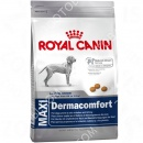 Royal Canin (Роял Канин) Maxi Dermacomfort + Игрушка для собак Trixie 33552 Push to Mute Rugby Ball Палка на веревке
