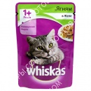Whiskas 100 гр консерва для кошек с ягненком в желе + Лакомства для кошек Trixie 42717 Premio Cheese Chicken Cubes с сыром и мясом птицы